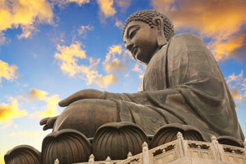 Lantau Island og kæmpebuddha...
