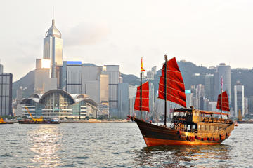Hong Kong Skyline and Junk