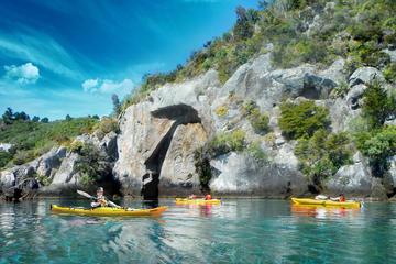 Kayak to the Maori Rock Carvings Lake Taupo