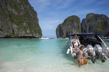 プーケット島発スピードボートで行くピピ島