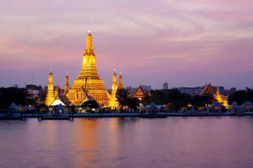 Bangkok - sejltur med middag på Chao Phraya-floden