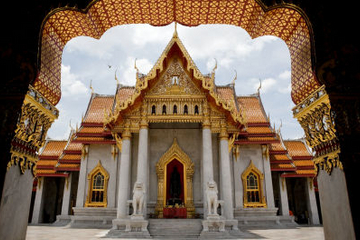 Bangkok tempeltur, inklusive den liggende Buddha i Wat Pho