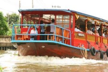 Crucero por la tarde en barcaza de arroz en Bangkok