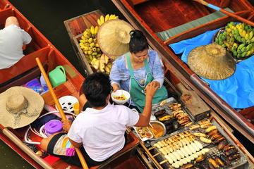 Excursão diurna pelos mercados flutuantes e pelo Sampran Riverside...
