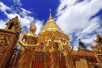 Halbtägige Tour ab Chiang Mai zum Tempel Wat Doi Suthep und zum Dorf...