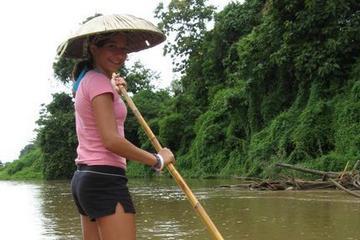 Promenade à dos d'éléphant, rafting et visite d'un village sur la...