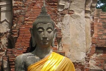 Tempi Ayutthaya tailandesi e crociera sul fiume da Bangkok