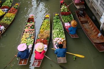 Visite privée : Excursion d'une journée aux marchés flottants et au...