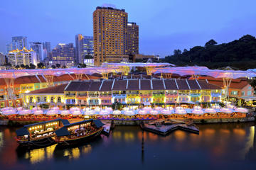 Private Tour: Singapore by Night Tour with Dinner along Singapore...