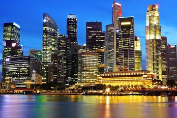 Tur i Singapore på kvelden med middag