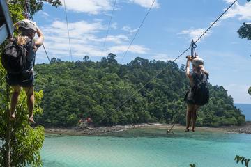 Marine Park and Coral Flyer Zipline Full-Day from Kota Kinabalu