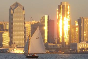 Classic Sailboat Sunset Sail