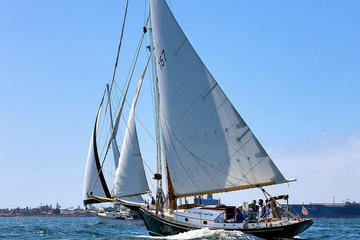 Classic Sailboat Sunset Sail