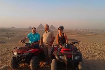 one  hours Quad Bike excursion at the complex of Giza Pyramids