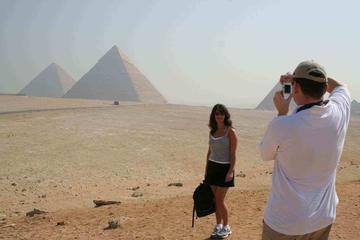 private-full day Giza pyramids sphinx Egyptian museum with shopping tour for local market