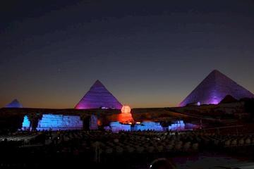Pyramids of Giza Sound and Light Show from Cairo