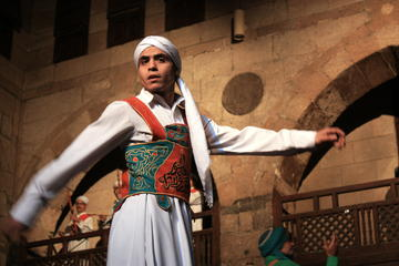 Suffi Dance Show in Islamic Cairo