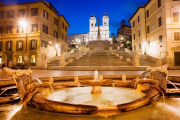Avondwandeling door het verlichte Rome met aperitivo