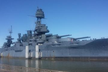 Battleship USS Texas and San Jacinto...