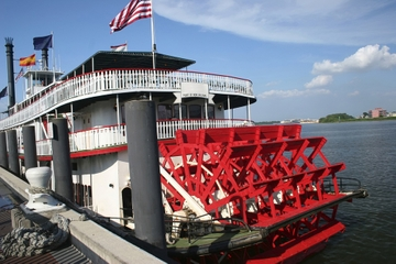 Cruzeiro pelo portos no barco a vapor Natchez