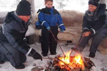 Family Snowmobile Safari from Santa Claus Village