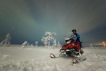Northern Lights Snowmobile Safari with Finnish Picnic and Bonfire