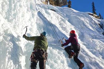 Ice Climbing in Maligne Canyon