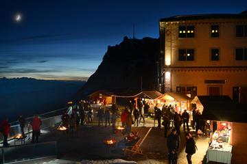 ピラトゥス山のヨーロッパ最高地のクリスマスマーケット
