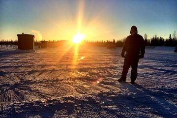 4 hour Ice Fishing Tour with Option to Snowmobile