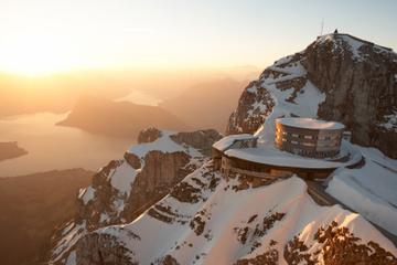 Como o Monte Viagem de um dia no inverno até o Monte Pilatus saindo...
