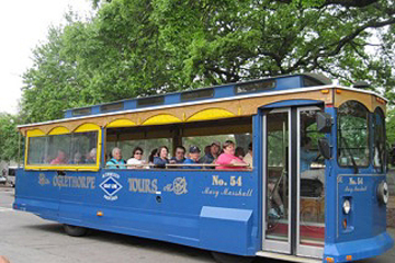 Hop-on-Hop-off-Trolley-Tour in der Innenstadt von Savannah