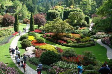 Vancouver til Victoria og Butchart Gardens med bus