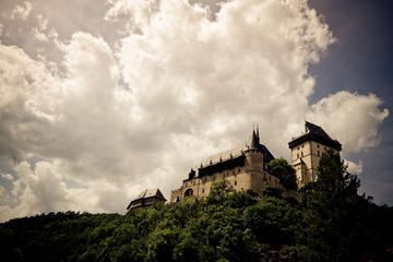 Private Cross Country Biking Tour to Karlstejn Castle