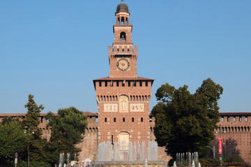 Battlements and Guards' Chamber at the Sforzesco Castle