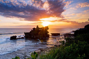 Tanah Lot temple And Sunset View