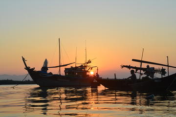 2.5-hour Sunset River Cruise and Basket Boat Rowing in Hoi An