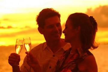 Jantar informal ao por-do-sol e show...
