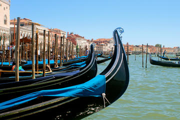From Venice train station to St Mark's Square by gondola