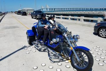 Day Trip Motorcycle Tour of Sunshine Skyway Bridge near Tampa, Florida