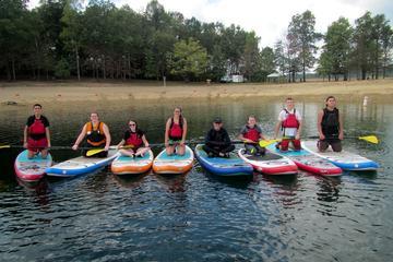 Group Paddleboard Lesson on Summerville Lake WV