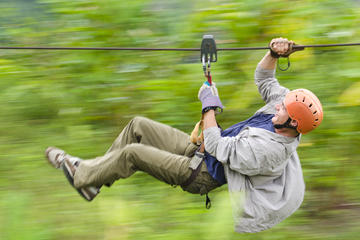 Arenal Volcano Canopy Tour, 50 meters Rappeling  and Hot Springs