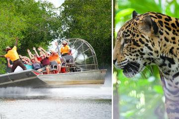 エアボートアドベンチャー&ベリーズ動物園の野生動物の冒険
