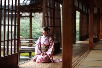 Long-sleeved 'Furisode' Kimono Experience in Kyoto