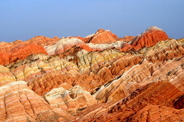 Private Hiking Day Tour of Binggou Danxia Landform & Zhangye Danxia Landform