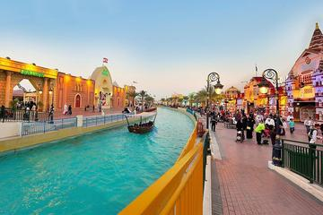 Dubai Global Village and Miracle Garden Tour from Abu Dhabi