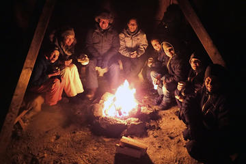 Evening Guided Snowshoe Trip with a Bonfire in Tromso