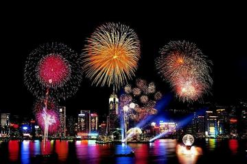 Hong Kong New Year's Eve Fireworks Cruise and Dinner for 2018