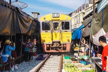 Maeklong Railway Market and Ancient...