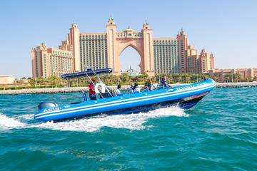 Dubai Palm Jumeirah and Palm Lagoon Guided RIB Boat Cruise