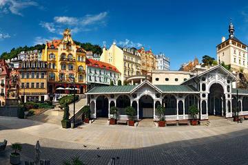 Karlovy Vary with Royal Brewery Krusovice or Mozer glass factory Full Day Trip